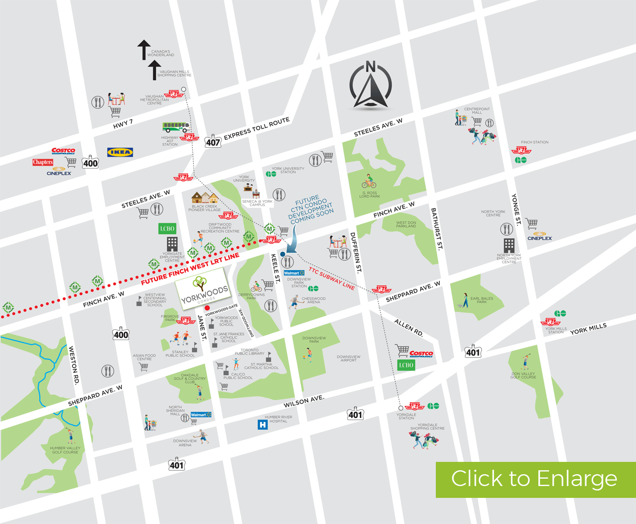 Yorkwoods Neighbourhood Amenity Map
